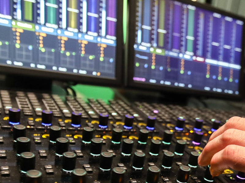 Audio board in studio