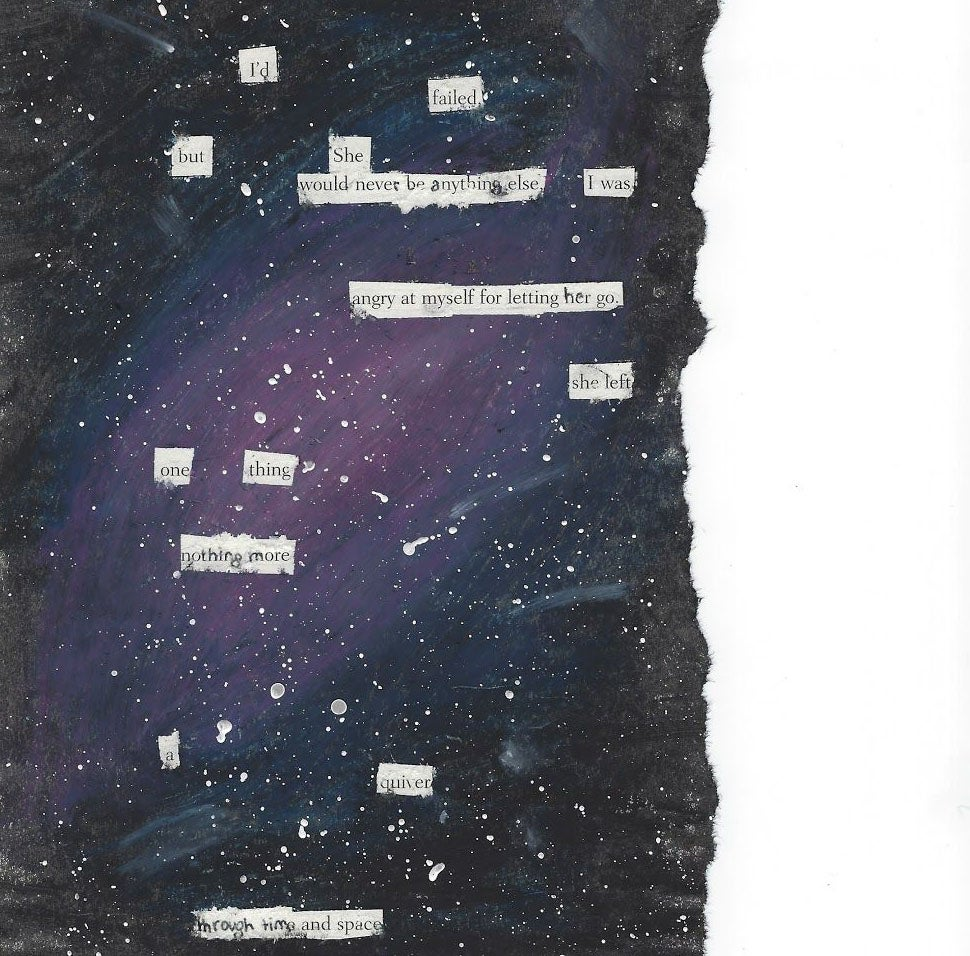 poetry on mixed media
